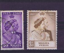 DD805 MALAYA PERLIS 1948 Royal Silver Wedding SG 1/2 used