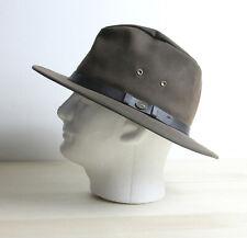 AUSTRALIAN OUTBACK Waxed Cotton Canvas Oilskin Hat Size M Western Bush Cowboy