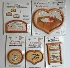 What's New Country Traditional Cross Stitch Kits & Frames Lot
