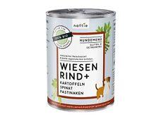 naftie Bio Wiesen Rind+ Hundefutter Nassfutter Menü, 400g Dose