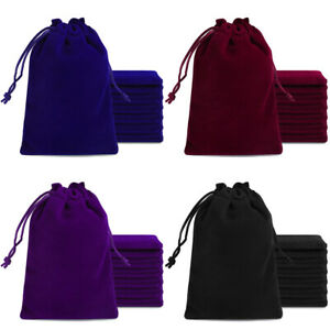 """2.7""""x3.5"""" 100Pc Velvet Drawstring Pouches Bag Jewelry Gift Bags Wedding Favors"""