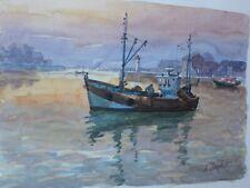 INGLOT André (XX)-Pologne-Zielona Gora-France-aquarelle-marine-Normandie