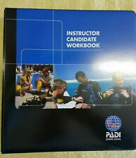 PADI Instructor Candidate Workbook with Binder - Brand New SCUBA