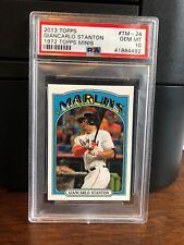 2013 Topps 1972 Topps Minis Giancarlo Stanton Baseball Card #TM-24 PSA 10 Gem