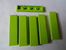 LEGO NEW PART 2431 BRIGHT GREEN 1 x 4 TILE SMOOTH x 6