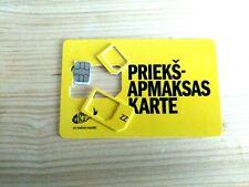 Zz Tele2 (Eu -Latvia) Anonymous Prepaid Cell Gsm Phone Sim Card Talk/Text/Data