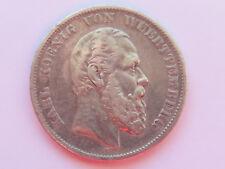 H467     WÜRTTEMBERG 5,- Mark 1876