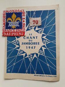 World Jamboree 1947 participants badge.