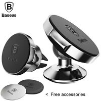 Baseus Universal 360° Rotating Phone Holder Car Magnetic Mount Stand For iPhone