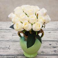 Artificielles 18 chefs de soie Rose fleur mariée mariage décoration