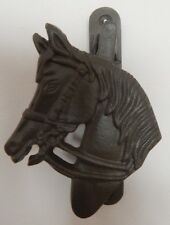 CAST IRON BROWN HORSE HEAD DOOR KNOCKER COUNTRYSIDE HORSE EQUINE THEME