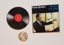 "Miniature record album Barbie Gi Joe 1/6  2"" Playscale Frank Sinatra Strangers"