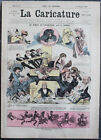 Albert ROBIDA Journal LA CARICATURE N°7 1880 Couv. Couleur Alphonse Daudet Nabab