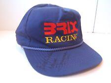 Brix Racing Unknown Autograph Hat Blue Snapback Rope Baseball Cap