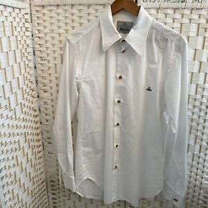 Genuine Authentic Men's White Soft Collar Vivienne Westwood Shirt Size (111)MED.