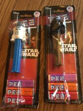 Pez STAR WARS Candy Dispensers Disney Darth Vader & R2D2