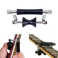 Black Carbon Steel Facility Guitar Rolling Glider Capo for 6-String Guitar、_FR