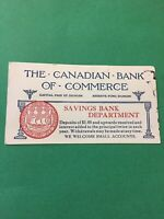 The Canadian Bank Of Commerce Savings Bank Canada Vintage Card Paper E60