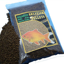 Aquariux goldfish pellets premium grade pond or tank fish food gold fish sinking