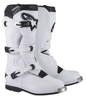 ALPINESTARS TECH 1 BOOTS WHITE MOTOCROSS MX OFF ROAD CHEAP NEW SALE REDUCED BIKE