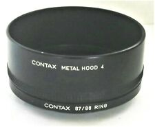 Genuine Contax Metal Lens Hood 4 + 67/86 Ring