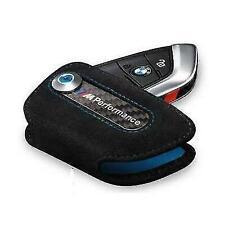 NEW OEM Genuine BMW M Performance Alcantara Key Fob Holder Bag Carbon Cover