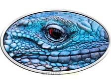 2 $dólares Blue iguana azul iguana High relief Niue Island 1 Oz plata 2012
