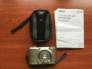 Nikon Cool Pix A10 Camera w/ carrying case, SD card - Tested and Working