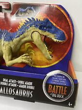 Jurassic World Park Battle @ Big Rock Allosaurus Dinosaur Figure Toy Nib Htf