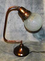 ART DECO LAMPE DE BUREAU ARTICULEE 30's. PIED CUIVRE ET ACIER. BANQUE INDUSTRIEL