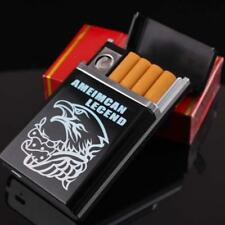 Dual Arc USB Electric Rechargeable Flameless Lighter Cigar Cigarette Box JMUS