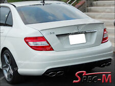 2008-2014 W204 C250 C350 Sedan C63AMG Style Painted 650 White Trunk Lip Spoiler