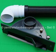 Sockeleinkehrdüse Set schwarz mit Anschlussconnector, VacPan, Zentralstaubsauger