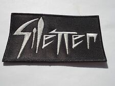 SILENCER EMBROIDERED LOGO DEPRESSIVE BLACK METAL PATCH
