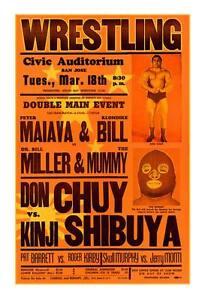Vintage WRESTLING Poster (2013) The Mummy Kinji Shibuya