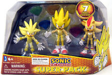 "Super Sonic 3"" Inch Pack Shadow Silver The Hedgehog 3-Pack Figure Exclusive NEW"