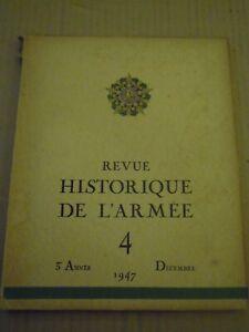 Revue historique de l'Armée N°4 Décembre, 1947, Bataille des Alpes (Général MER)
