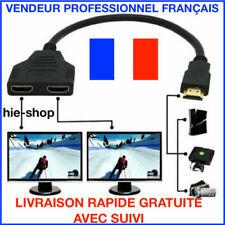 Adaptateur Prise HDMI Mâle vers Double HDMI Femelle Câble Connectique