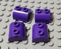 LEGO New Lot of 4 Dark Purple 2x2 Dome Top Brick Pieces