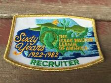 Vintage  IZAAK WALTON League of America Recruiter Sixty Years Embroidery Patch