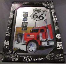 Mirror Route 66 Red Truck pub/bar, mancave, home decoration