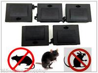 5x Mouse Trap Bait Station Boxes Pest Control Rodent Vermin Poison Blocks Lock