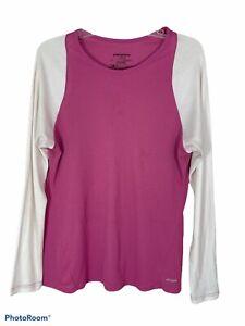 Patagonia Capilene 2 lightweight womens XL shirt long sleeve pink base layer
