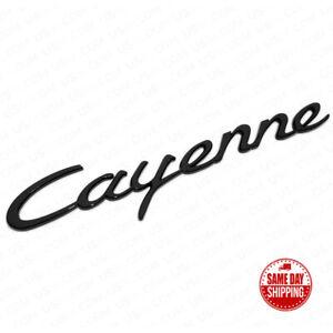 Black Porsche Cayenne Letters Rear Badge Emblem Look Deck lid 958-559-675-02
