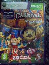 Carnival Games En Acción Nuevo precintado Accion de feria Xbox 360 en castellano