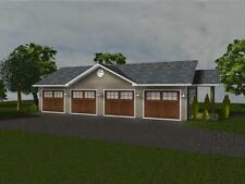 Custom 4 Car Garage Plan 1,248 SF Blueprints 48x26