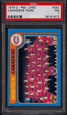 1979 80 OPC O PEE CHEE #252 MONTREAL CANADIENS TEAM PSA 7 N-MINT w/ ken Dryden