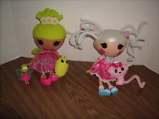 Lalaloopsy PIX E FLUTTERS w/ FIREFLY and SUZETTE LA SWEET Full Size Dolls+ Small