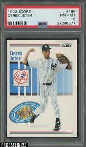1993 Score #489 Derek Jeter New York Yankees RC Rookie HOF PSA 8 NM-MT