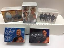 STARGATE SG1 TV SHOW CARD SETS + HEROES (5 DIFFERENT TOTAL)+ 1 EXCLUSIVE PROMO